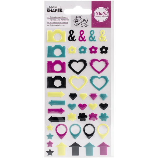 Hello Darling Enamel StickersShapes
