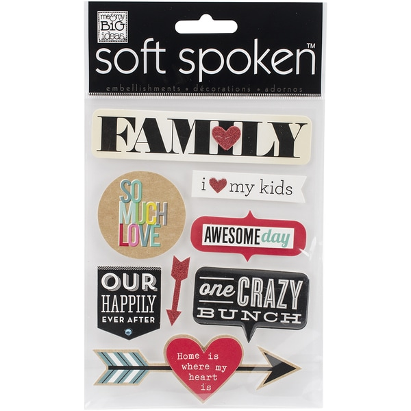 Soft Spoken Themed EmbellishmentsFamily So Much Love