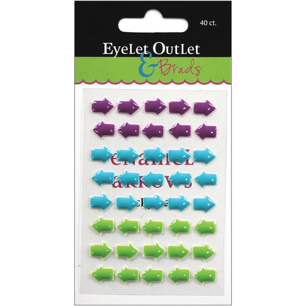 Eyelet Outlet AdhesiveBack Enamel Arrows 40/PkgPurple/Blue/Green