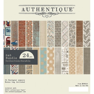 Authentique Bundle Cardstock Pad 6inX6in 24/PkgDurable