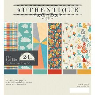 Authentique Bundle Cardstock Pad 6inX6in 24/PkgPlayful