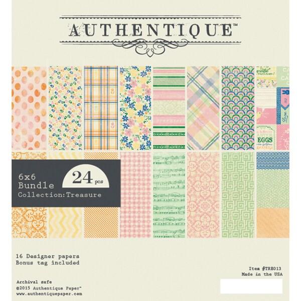 Authentique Bundle Cardstock Pad 6inX6in 24/PkgTreasure