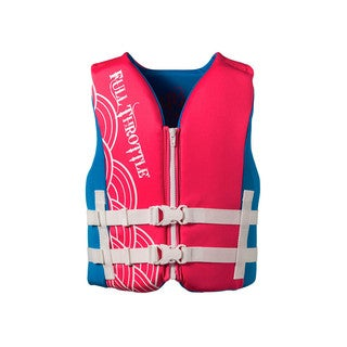 Full Throttle Youth Rapid Dry Vest, Pink