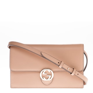 Gucci Icon Leather Wallet with Strap