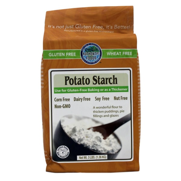 Authentic Foods 3-pound Gluten Free Potato Starch (Pack of 2)