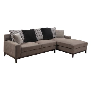 Fiona Contemporary Neutral Scatterback 2 Piece Chaise Sectional
