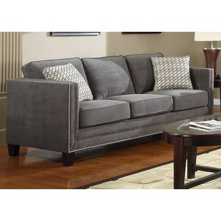 Charcoal Grey Contemporary Sofa