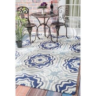 nuLOOM Handmade Indoor/ Outdoor Spanish Tiles Multi Porch Rug (8' x 10')