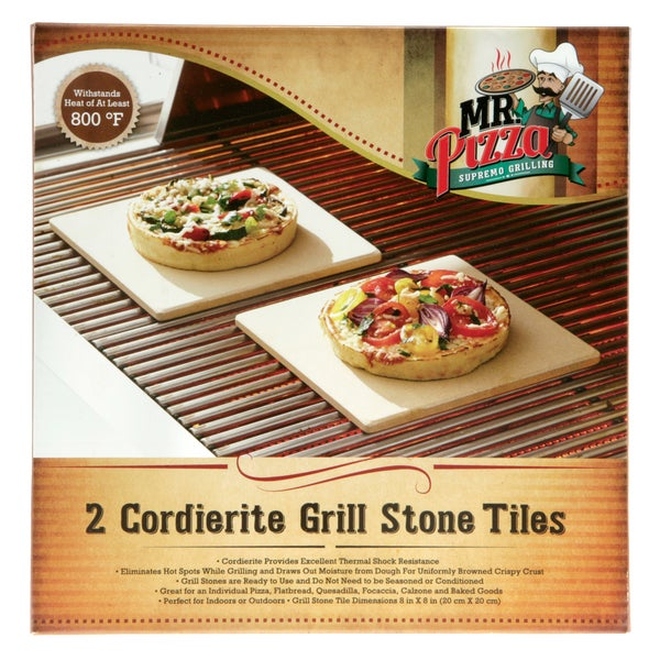 BR Cordierite Grill Stone Tiles (Set of 2)