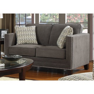 Charcoal Grey Contemporary Loveseat