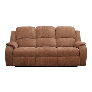 Rust Chaise Dual Reclining Sofa