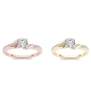 De Couer 14k Gold 3/4ct TDW Diamond Classic Engagement Ring (H-I, I2)