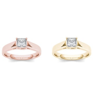 De Couer 14k Gold 7/8ct TDW Diamond Classic Engagement Ring (H-I, I2)