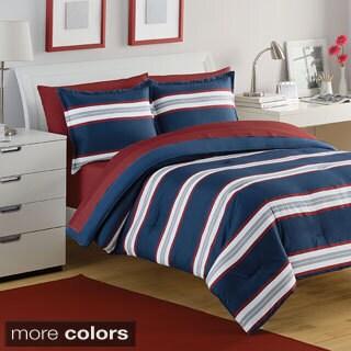 Izod Rugby Stripe 3-piece Comforter Set