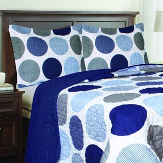Blue Polka Dot Quilt Set