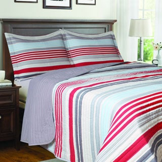 Solaris Striped Quilt Set