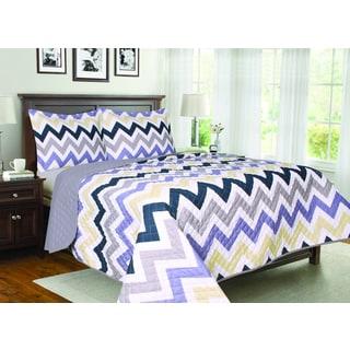 Chevron 3-piece Quilt Set