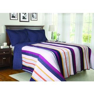 Madrid Striped 3-piece Quilt Set