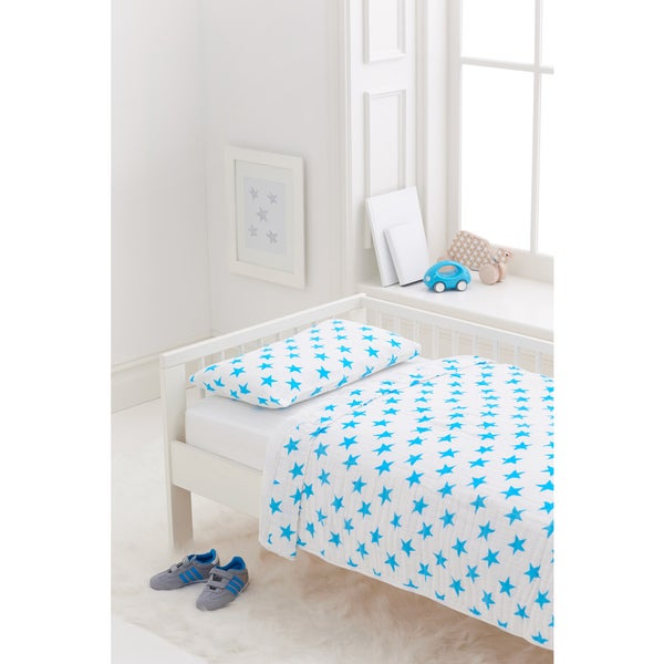 Aden + Anais Fluro Blue Classic Toddler Bedding Set