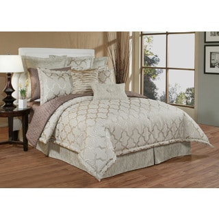 Austin Horn En' Vogue Glamour Beige 6-piece Luxury Comforter Set
