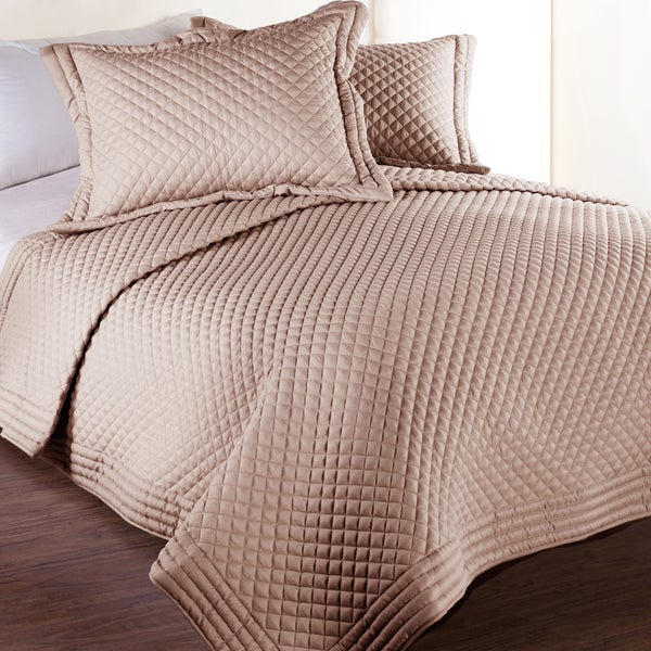 Lotus Home Microfber Water and Stain Resistant Diamond Quilt (As Is Item) 26198319