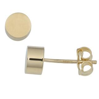 Fremada 14k Yellow Gold High Polish Cylinder Stud Earrings