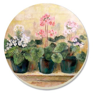 Counterart Absorbent Stone Primula Coaster (Set of 4)