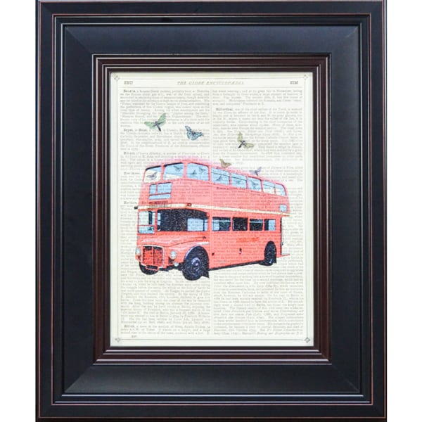 McConoghie 'Butterfly London Bus' Framed Art Print