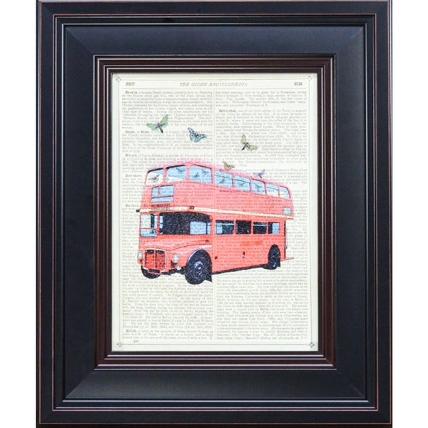 McConoghie 'Butterfly London Bus' Framed Art Print