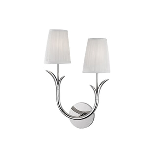 Hudson Valley Deering I 2-Light Right Wall Sconce, Polished Nickel