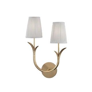 Hudson Valley Deering I 2-Light Right Wall Sconce, Aged Brass