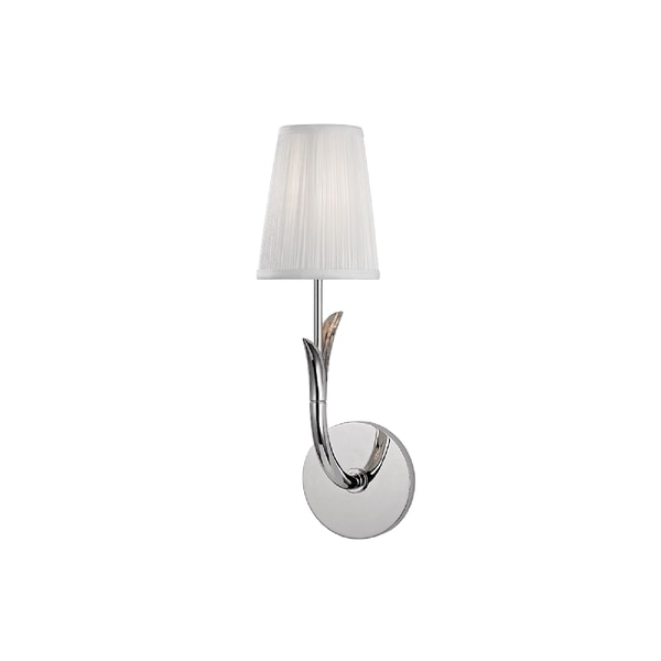 Hudson Valley Deering I 1-Light Wall Sconce, Polished Nickel