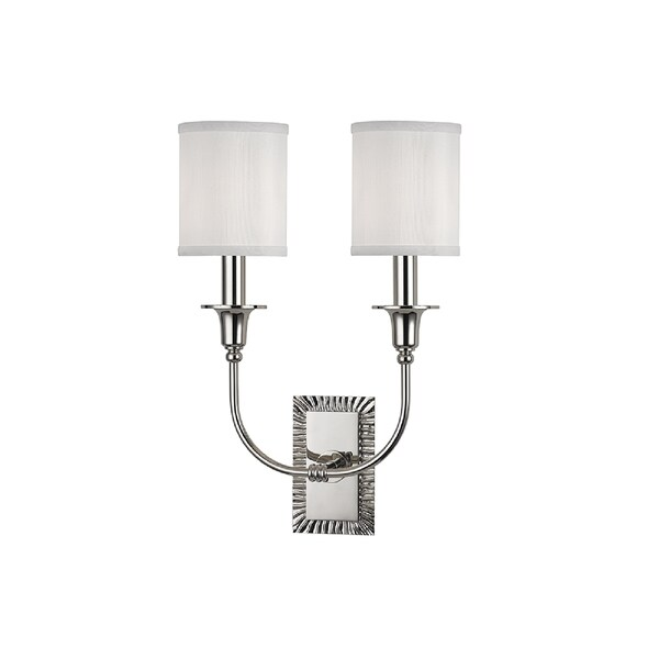 Hudson Valley Dover I 2-Light Wall Sconce, Polished Nickel