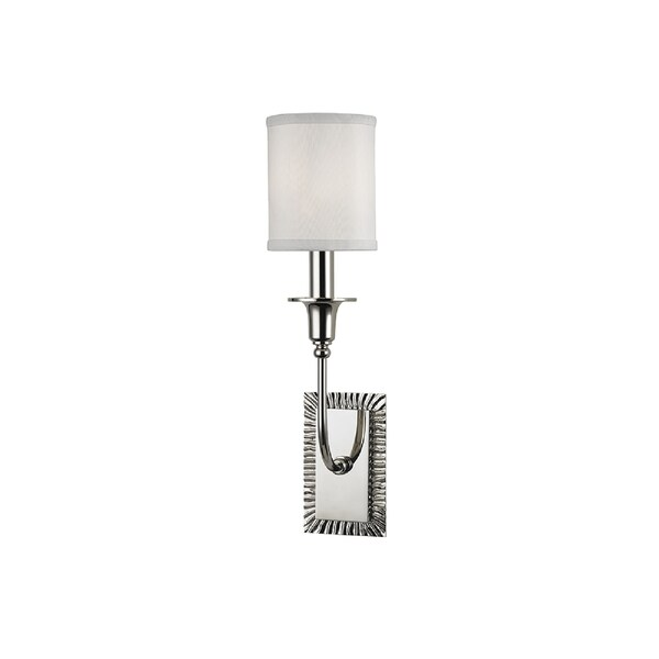 Hudson Valley Dover I 1-Light Wall Sconce, Polished Nickel