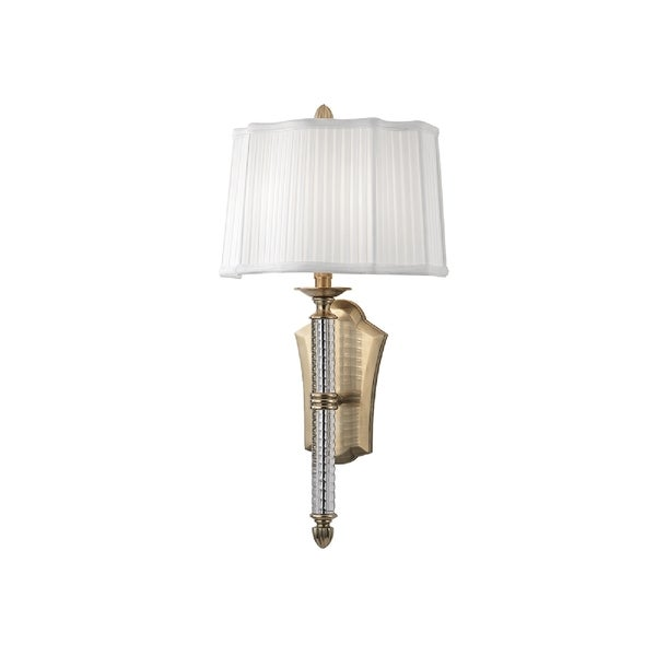 Hudson Valley St. George I 2-Light Wall Sconce, Aged Brass