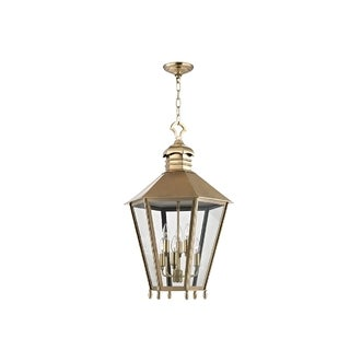 Hudson Valley Barstow I 6-Light Large Lantern, Aged Brass