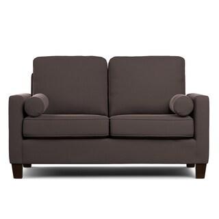 Portfolio Espen Brown Velvet SoFast Compact Sofa