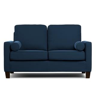 Portfolio Espen Navy Blue Velvet SoFast Compact Sofa