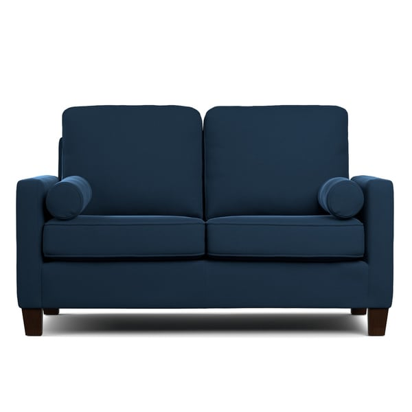 Portfolio Espen Navy Blue Velvet Sofast Compact Sofa Overstock Shopping Great Deals On
