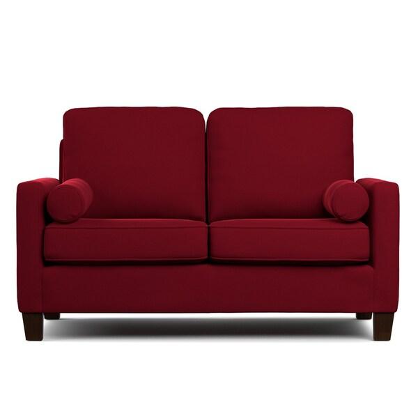 Portfolio Espen Red Velvet SoFast Compact Sofa