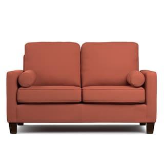 Portfolio Espen Orange Velvet SoFast Compact Sofa