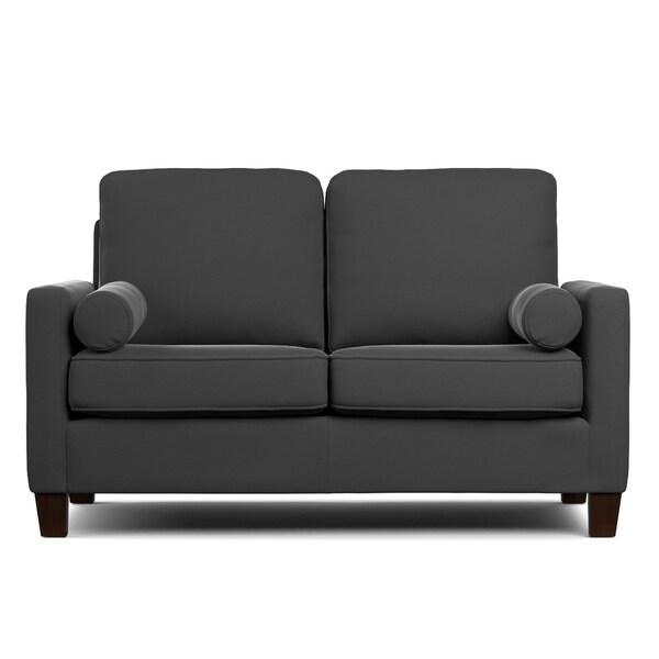Portfolio Espen Grey Velvet SoFast Compact Sofa