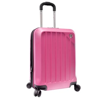Traveler's Choice Glacier Raspberry 21-inch Hardside Expandable Carry-On Spinner Upright Suitcase