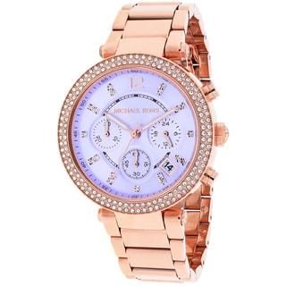 Michael Kors Women's MK6169 Parker Round Rose Gold-tone Bracelet Watch