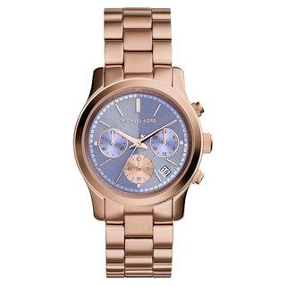 Michael Kors Women's MK6163 Runway Round Rose Gold-tone Bracelet Watch
