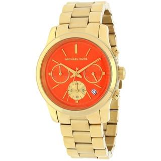 Michael Kors Women's MK6162 Runway Round Goldtone Bracelet Watch