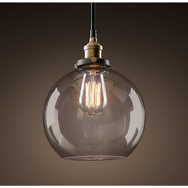 Maisie 8 Inch Adjustable Height Edison Pendant With Bulb