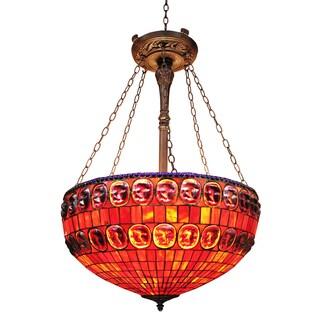 Tiffany-style Weylyn 26-inch Red Hanging Lamp
