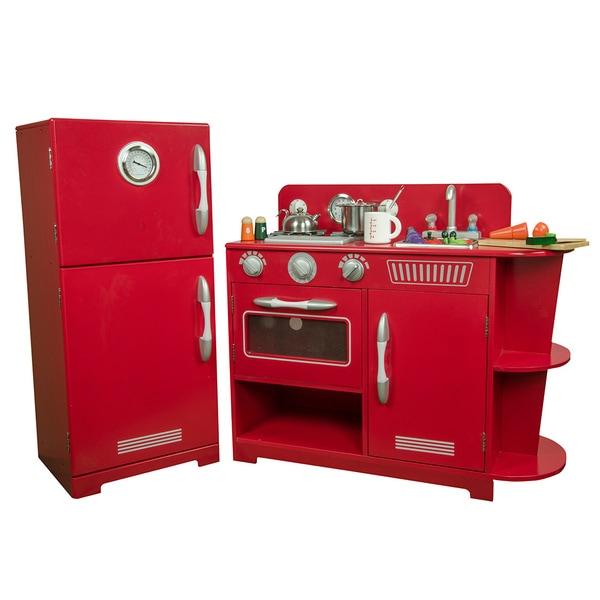 Teamson KidsClassic Play Kitchen-Red 15467949