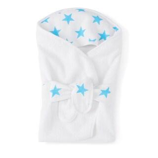aden + anais Fluro Blue Baby Bath Wrap